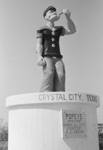 popeye statue in crystal city, texas